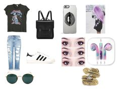"""""""Sans titre #392"""" by abye980 on Polyvore featuring mode, Genetic Denim, MadeWorn, Ray-Ban, adidas, The Cambridge Satchel Company, Lipsy et Natalie B"""