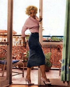 Balcony scene with Marilyn - colorized by me.