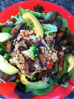 Veggie Quinoa with Portobello and Avocado