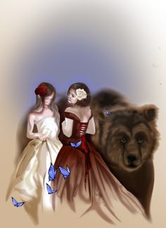 Snow white and rose red by ~Naralim