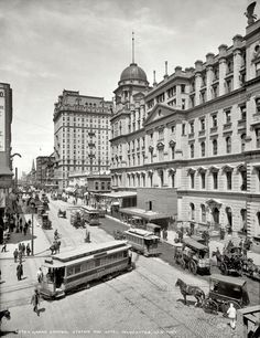 grand central station and hotel manhattan, nyc, 1903