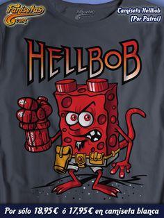 ¡Bueeeeeenos días! #FelizLunes Faniseter@s! Esperamos que hayáis pasado un gran fin de semana. Empezamos las novedades con #Hellbob un mix entre #BobEsponja y #Hellboy por #Patrol! #Camisetas #Divertidas #Fanisetas http://www.fanisetas.com/camiseta-hellbob-p-5075.html