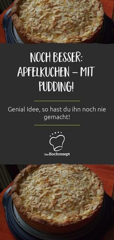 Deinen Apfelkuchen hast du so noch nic… Even better: apple pie – with PUDDING! Your apple pie you have not done so, a brilliant idea. Nice juicy, the cake is awesome – great Cakelover word of honor! Pear Cake, Apple Cake, Cupcakes, Clean Eating Snacks, Healthy Snacks, Cake Recipes, Dessert Recipes, Snacks Sains, Flaky Pastry