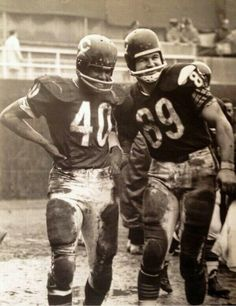 .Gale Sayers and Mike Ditka Chicago Bears