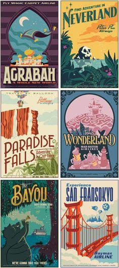Disney travel posters
