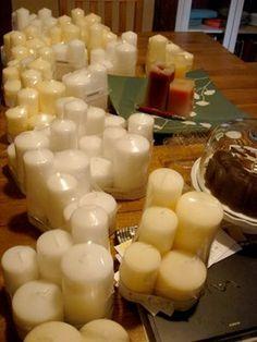 Pillar candles from ikea!