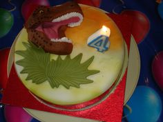 Dinosaur Birthday Cake   Lost in translation: Dinosaur cake and a judgemental clown-god