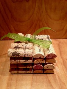 Wine cork drink coasters handmade from real wine corks.  These make great host gifts.. $14.99, via Etsy.