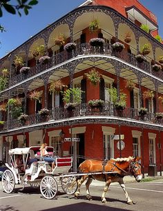 New Orleans, French Quarter. Stayed in French Quarter for three days just before Mardi Gras. Wonderful Places, Great Places, Beautiful Places, Amazing Places, Oh The Places You'll Go, Places To Travel, Places To Visit, Dream Vacations, Vacation Spots