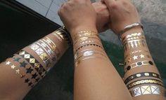 Metallic Foil Tattoos x 5 sheets!! by Head2ToeFashion on Etsy https://www.etsy.com/listing/209297662/metallic-foil-tattoos-x-5-sheets