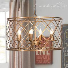 Hand cut glass regency chandelier creative co op home lighting metal wire checkered drum shape chandelier creative co op home aloadofball Choice Image