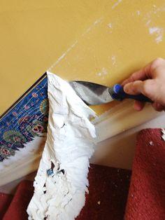 remove wallpaper border fabric softener
