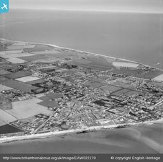 Selsey Bill and the town, Selsey, from the south-west, 1949