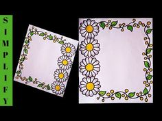 Border Designs/Border Designs for Project/Project File Decoration/Border Design for Project Hi everyone , here in this video we will show you easy and a. Frame Border Design, Boarder Designs, Page Borders Design, File Decoration Ideas, Page Decoration, Pen Design, Book Design, Cover Design, Front Page Design