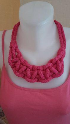 ElinorHandmade / Ružový pletený