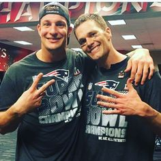 One of my fav pics..Gronk and Tom :)