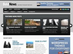 Bold News is a clean, well defined magazine theme design with a unique featured post slider to highlight noteworthy content. With 4 widgetized regions and the customization functionality of the WooFramework, this theme really paves the way in the magazine theme space.