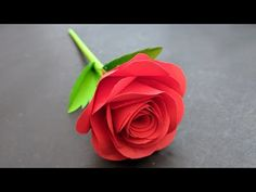 Paper Flowers Diy, Paper Roses, Fabric Flowers, How To Make Rose, How To Make Paper, Diy Crafts For Gifts, Paper Crafts, Ribbon Flower Tutorial, Bow Tutorial