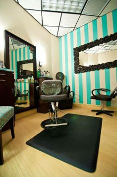Funky Green Accent Wall | MY SALON Suite® Photo Gallery .
