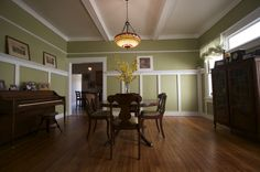 Craftsman Dining in 1920s Bungalow, Taking a fresh approach to a midtown bungalow dining room in Atlanta. And, combining old with new., Dining Rooms Design