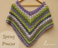 Lanas de Ana: Spring Poncho