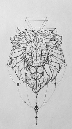 Tattoo lionne signification du signe lion cool idée tatouage animal noble Tattoo lioness meaning of the lion sign cool idea tattoo animal noble Kunst Tattoos, Body Art Tattoos, New Tattoos, Tattoo Drawings, Mini Tattoos, Tattoo Sketches, Tattoos Skull, Family Tattoos, Geometric Lion Tattoo