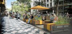 Imagem digitalizada de sugestão de parklet para as subprefeituras. Image via Prefeitura de São Paulo