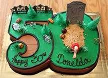 50th birthday cake ideas - One foot in the grave...really like this cake. Going to try and find the actual #'s  Have some of the stuff to go on top.
