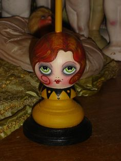 Flapper Hat Stand Vintage Style Mustard Redhead by flapperdashery, $58.00