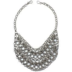 CLEOPATRA Item #: USML100050 An exotic draping of hoops and beads framed in an antique silver chain makes this a dramatic statement necklace sure to catch compliments. Measures 22.5 inches. Your Price:$90.00