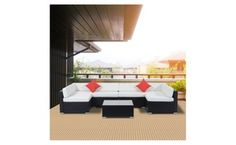 Rattan Garden Furniture Groupon brown 9 pc mix patio garden wicker rattan sofa set furniture