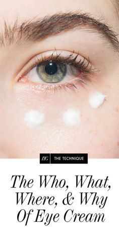 How to use eye cream and know if it's actually working
