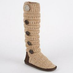 MUK LUKS Miranda - Marled Texture Stripe Boot - Heather