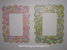 Cardboard and eggshells frames | Recyclart