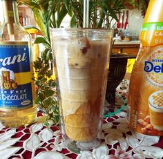 Skinny White Chocolate Caramel Iced Coffee Only 30 calories.
