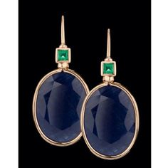gold, sapphire and emerald earrings. King Design, Emerald Earrings, Handcrafted Jewelry, Sapphire, Instagram Posts, Gold, Beautiful, Handmade Chain Jewelry, Handmade Jewelry