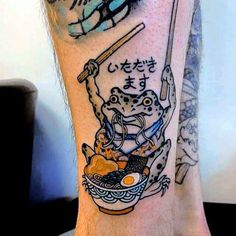 japanese tattoos and meanings Frog Tattoos, Body Art Tattoos, Tatoos, Sleeve Tattoos, Pretty Tattoos, Beautiful Tattoos, Funky Tattoos, Aesthetic Tattoo, Tattoo Und Piercing