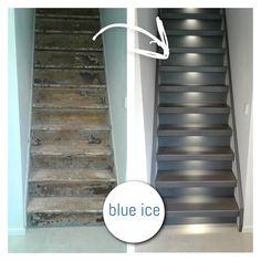 Het Limited Editon decor: Blue Ice  Treden: Blue Ice Stootborden: Blue Ice Wangen: wit  U-kap: Blue Ice