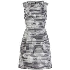 Karen Millen Tailored Dot Dress, Black/White