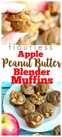 Flourless+15+minutes+Apple+Peanut+Butter+Muffins.+Gluten-free,+healthy,+perfect+back+to+school+recipe+via+@Maryea+Flaherty