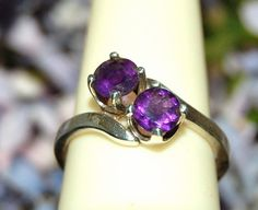 20 DISCOUNT  Pretty 2 Stone Purple Amethyst by WindstoneDesigns, $32.76