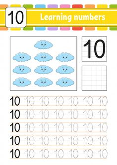 Trace and write. Preschool Writing, Numbers Preschool, Learning Numbers, Preschool Curriculum, Kids Math Worksheets, Preschool Activities, Number Worksheets, Kindergarten Goals, 1st Grade Math