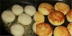 Vysmážané ľahučké krupicové placky z jednej panvice: V tejto podobe si krupicu zamiluje naozaj každý! - Báječná vareška Mashed Potatoes, Eggs, Breakfast, Ethnic Recipes, Food, Whipped Potatoes, Morning Coffee, Smash Potatoes, Essen