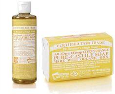 El Pack Básico de Jabones con Aroma Citrico Limón y Naranja de Dr Bronner está compuesto por un jabón natural de Castilla y un jabón líquido 18 usos en 1. Estimula y revitaliza la piel de tu cuerpo tonificándola y haciendo de tu limpieza corporal, facial y de manos una experiencia única y refrescante! Además es un pack ideal no sólo para ti sino que es ideal para regalar. http://belleza.tutunca.es/pack-basico-jabones-con-aroma-citrico-naranja-de-dr-bronner