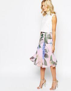 Ted Baker Skirt in Distinguishing Rose Print