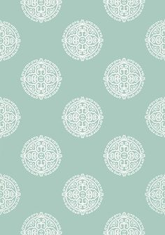 HALIE CIRCLE - a delightful medium scale medallion/motif design with a Chinoiserie styling. Coastal Wallpaper, Aqua Wallpaper, View Wallpaper, Chic Wallpaper, Fabric Wallpaper, Pattern Wallpaper, Iphone Wallpaper, Construction Wallpaper, Fabric Houses