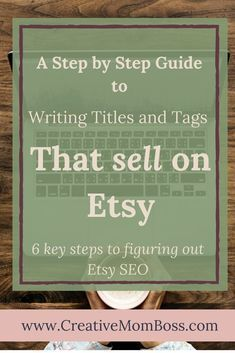 Etsy A step by step guide to Etsy SEO - writing titles and tags that increase product sales on Etsy you can find similar pins below. We have brought t. Craft Business, Online Business, Business Tips, Serious Business, Business Essentials, Business Planning, Starting An Etsy Business, Effective Marketing Strategies, Etsy Seo