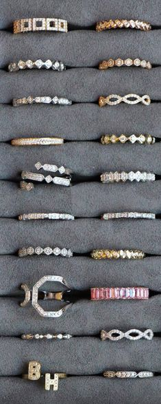 The possibilities are endless, get your stack on! #diamonds #rings #danarebecca