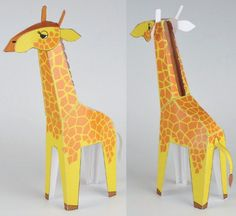 This animal paper model is a simple Giraffe for Kids, an African even-toed ungulate mammal, the tallest living terrestrial animal and the largest ruminant,
