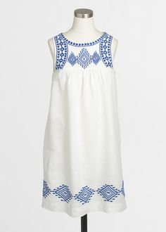 j.crew factory embroidered dress